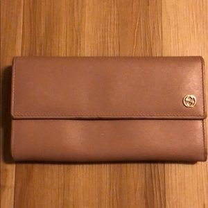 Authentic GUCCI Blush Pink Leather Wallet